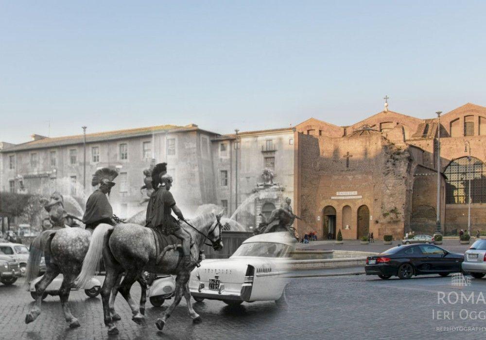 Antichi romani a Piazza Esedra #roma #rome