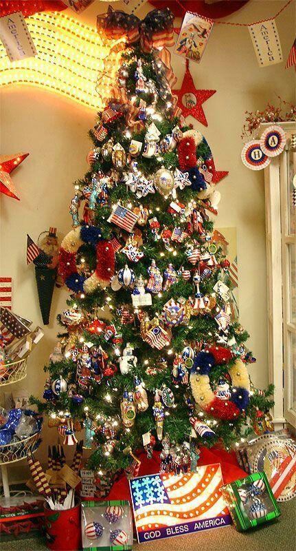 Independence day tree | Patriotic christmas tree ...