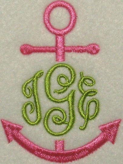 Machine embroidery monogram fonts for towels makaroka