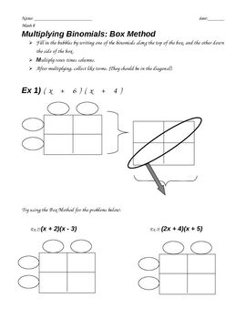 Worksheets Multiplying Binomials Worksheet good for remediation or scaffolding this document includes a multiplying polynomials binomials foil