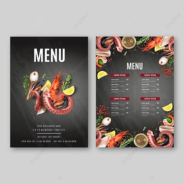 Restaurante Cafe Primeiro Comida Menu Modelo De Design De Panfleto De Comida Restaurante Comida Menu Design Com Fundo De Quadro De Giz Modelo De Design De Menu Food Menu Template