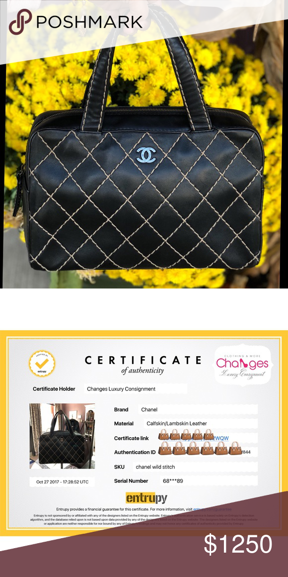6bd6f6c09c7f Authentic CHANEL Bag CHANEL Lambskin Wild stitch Handbag. Shows normal  wear. Guaranteed authentic and