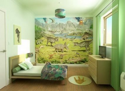 Another great dinosaur themed room, love this for future plans for ...