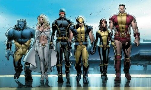 The Astonishing X-men written by Joss Whedon: Beast, White Queen, Cyclops, Wolverine, Shadowcat and Colossus. | Superhero, X men, Marvel comics