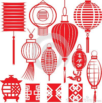 chinese lantern collection by bigredlynx via dreamstime cards