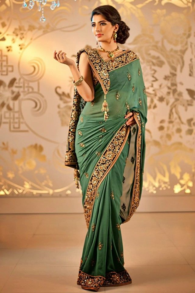 bb2020284f Bridal-Wedding-Formal-Casual-Party-Wear-Sarees-Dress-New-Fashion-Sari-for- Brides-by-Designer-Satya-Paul-7