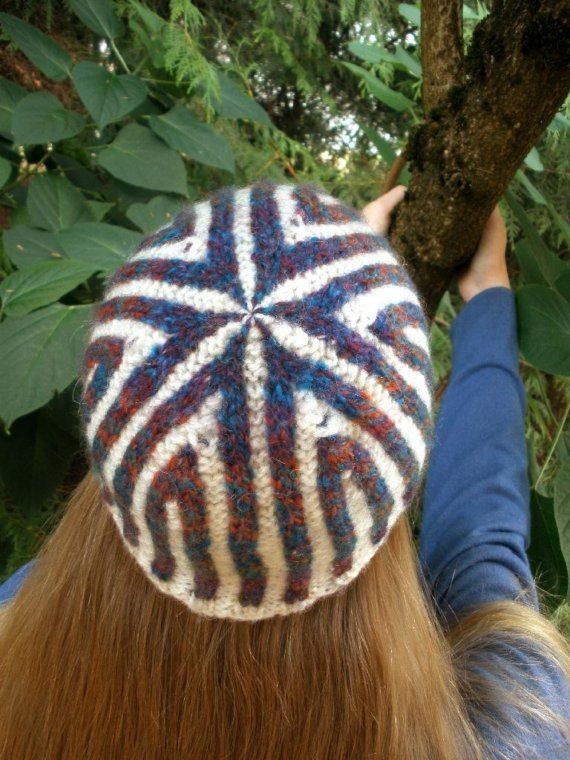 Love the look of this hat!!! Fair Isle Knitted Colorful Corrugated ...
