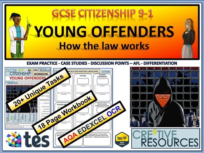 Young Offenders Education resources teaching, Types of