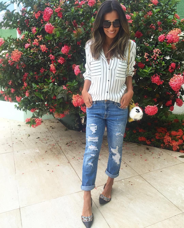 """Silvia B. Braz no Instagram: """"Look de hoje ❤️ Amo fazer produções com jeans e sapatilhas! Essa é da @lojapaulatorres  #comfylook #ootd"""""""