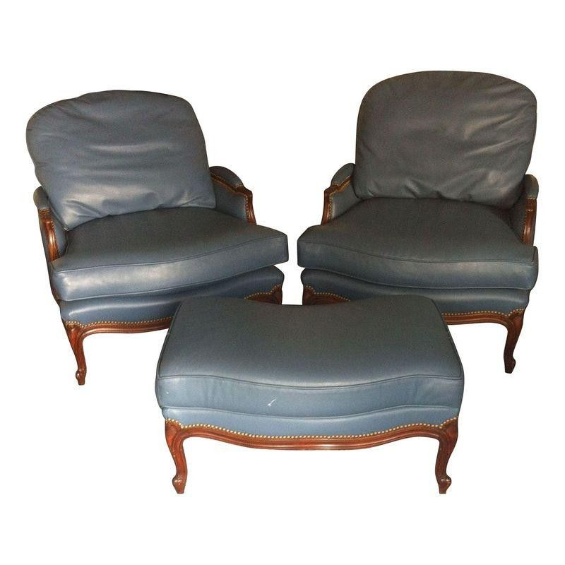 leather bergere chair and ottoman modern rocking chairs blue ottomans comfortable