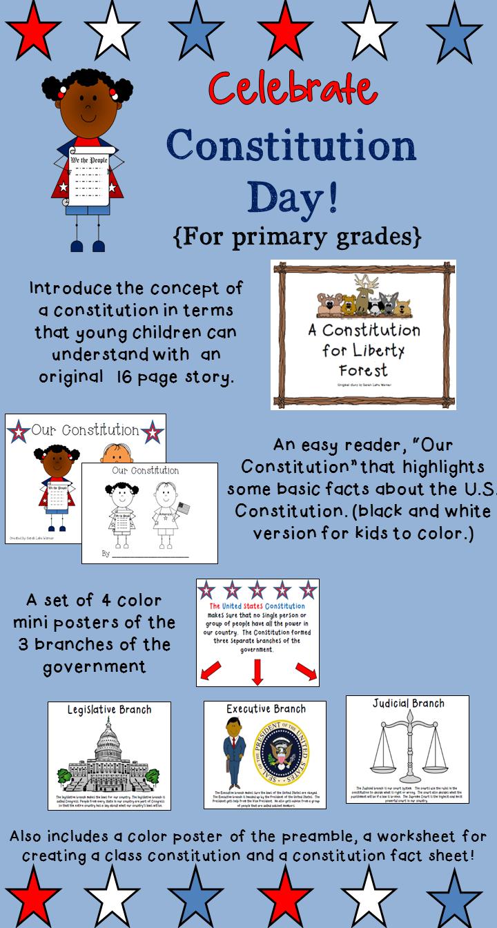 Constitution Day Activitie For Younger Children 3rd Grade Social Studie Kindergarten Studies Discus The Preamble Of