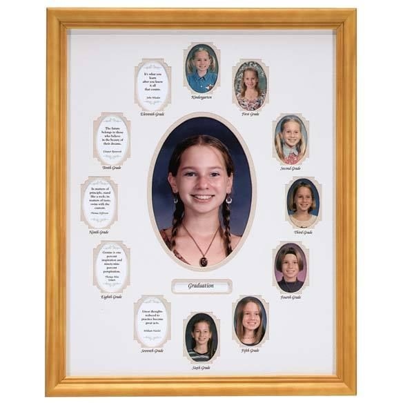 12 year yearly grade SCHOOL growth chart k 12th grade photo wallet ...