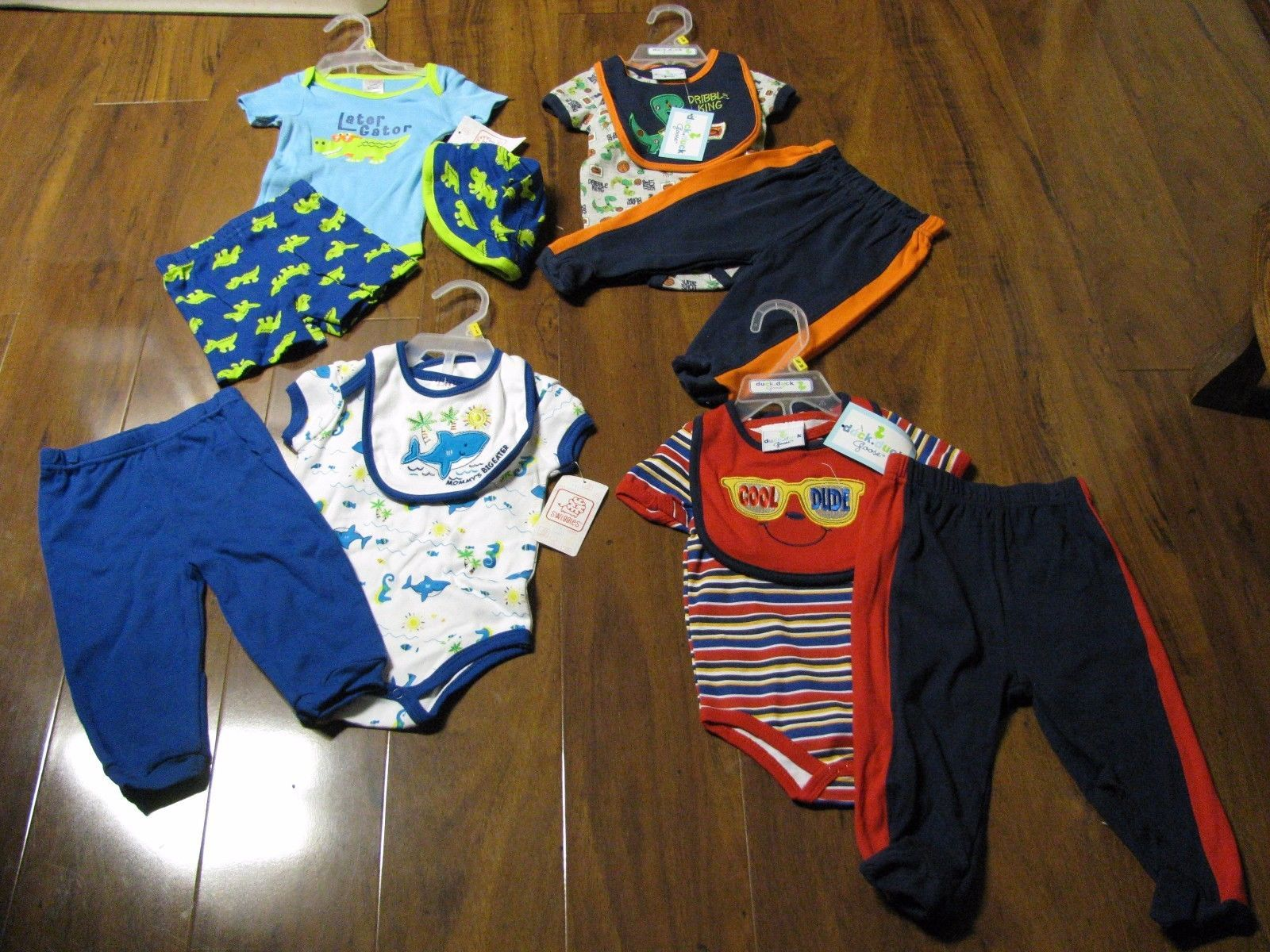 Awesome 12 Pc Lot Newborn Baby Boys Clothes 0 3 Months 3 6M Spring