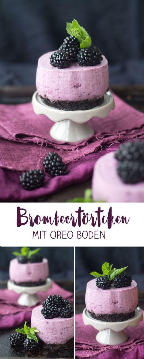 Brombeer Törtchen mit Oreo Brownie Boden - Kreativfieber