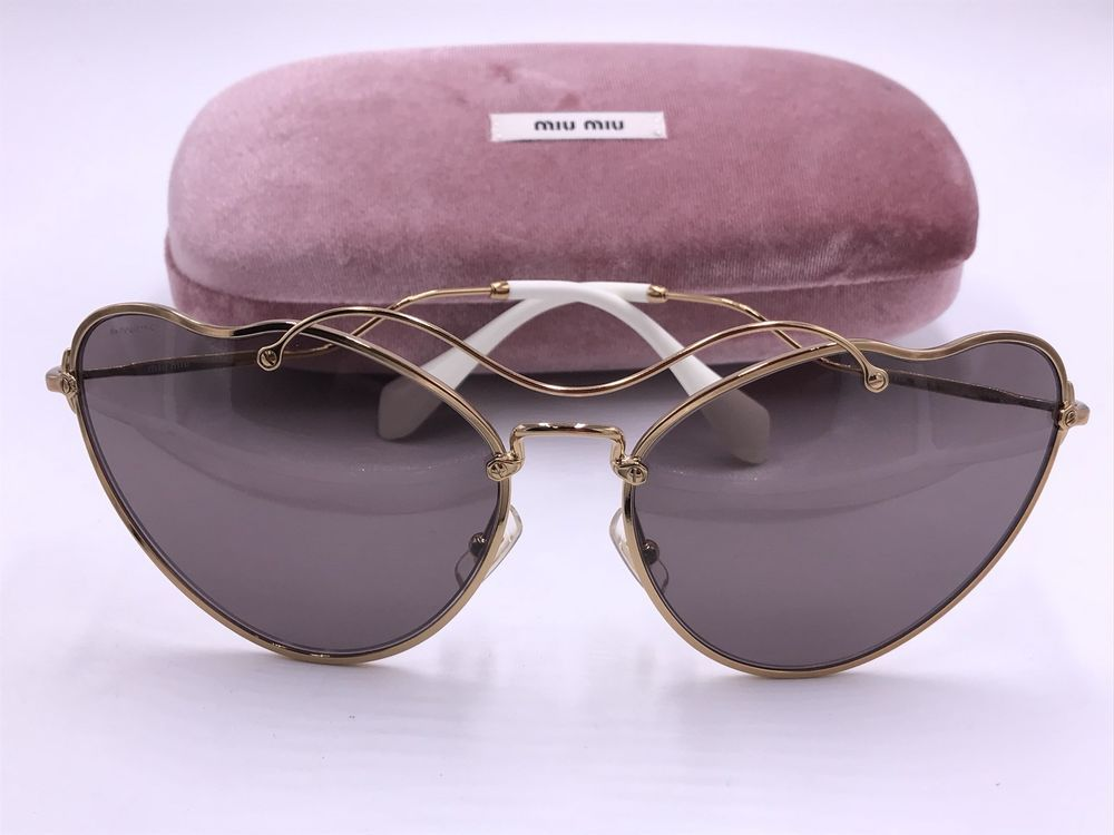 fb565789920 MIU MIU SMU55R 7OE-6X1 Sunglasses Gold Frame with Lilac Lens AUTHENTIC Cat  Eye  fashion  clothing  shoes  accessories  womensaccessories ...