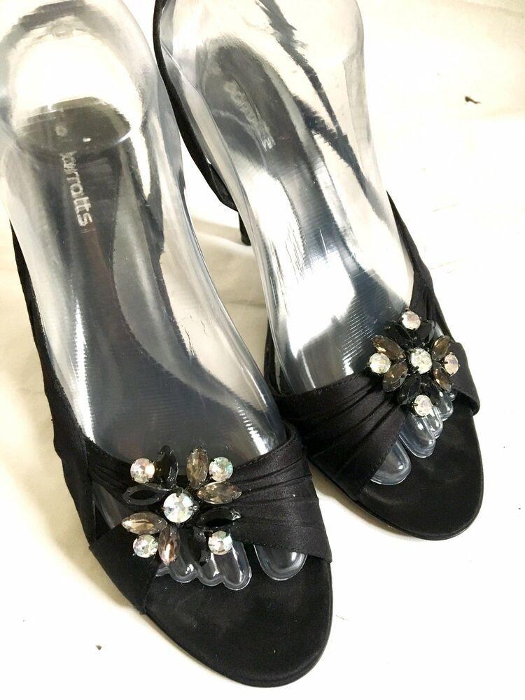 Black Strappy Kitten Heel Sandals With Diamante Detail 6 39 Wedding Occasion Kitten Heels From Ebay Uk Kittenheels Heels 3 99 En Kitten Heels In 2019
