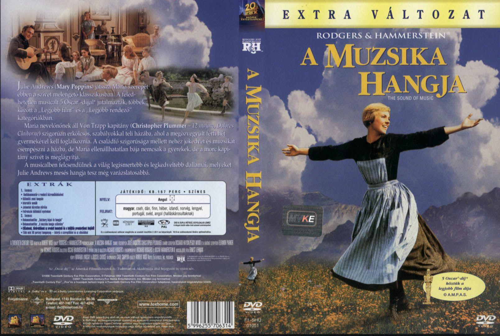 A Muzsika Hangja Szines Magyarul Beszelo Amerikai Eletrajzi Drama 174 Perc 1965 Maria Julie Andrews A Fiatal Sound Of Music Music Christopher Plummer