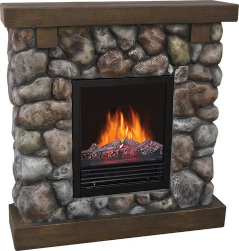 Rustic Rock Electric Fireplace At Menards Fireplace Electric