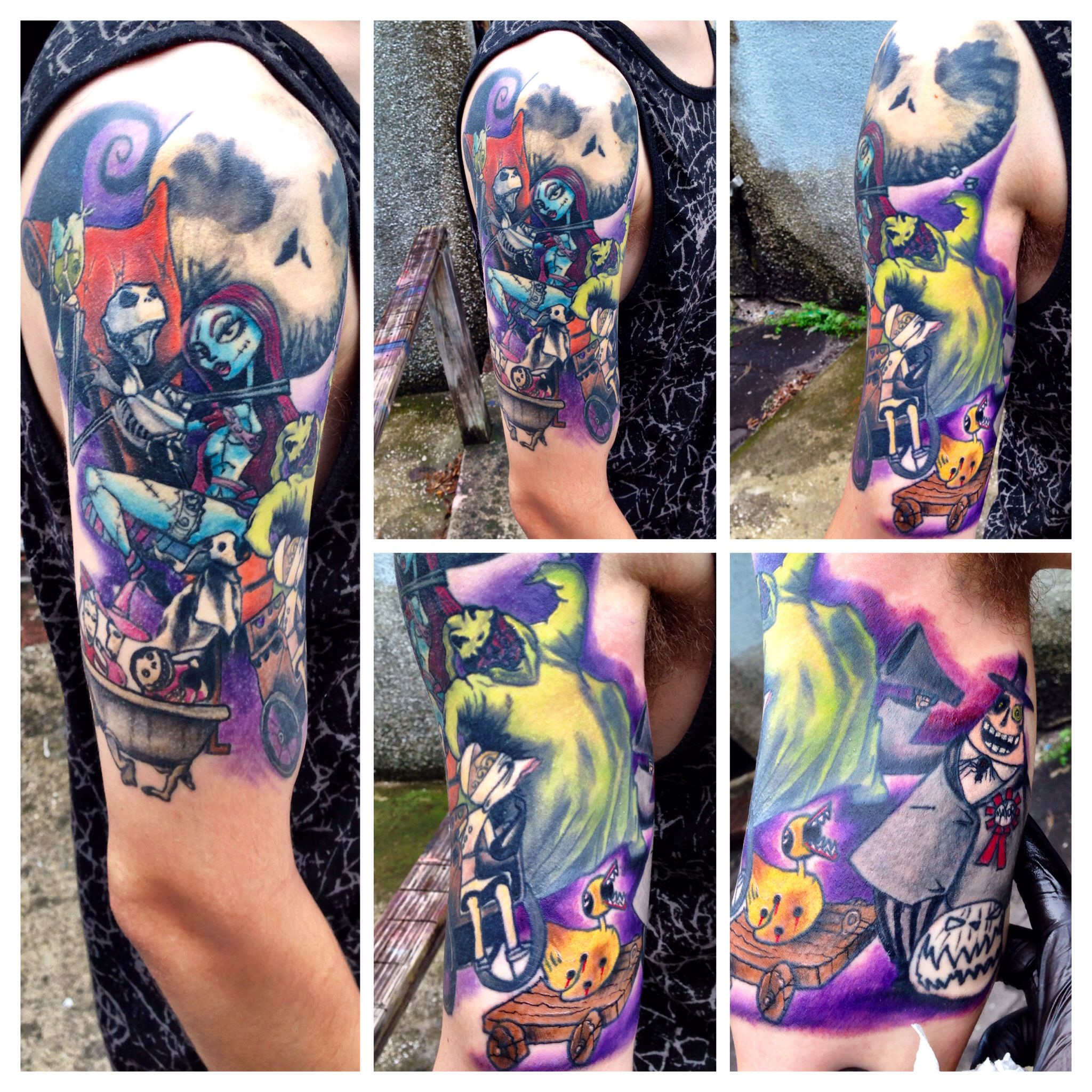 Nightmare before Christmas half sleeve I\'m working on. | Tattoos ...