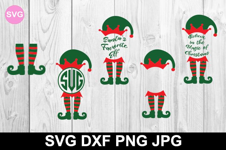 Free Elf Legs And Monogram Svg File Christmas Svg Files Free Monogram Svg Christmas Svg Files