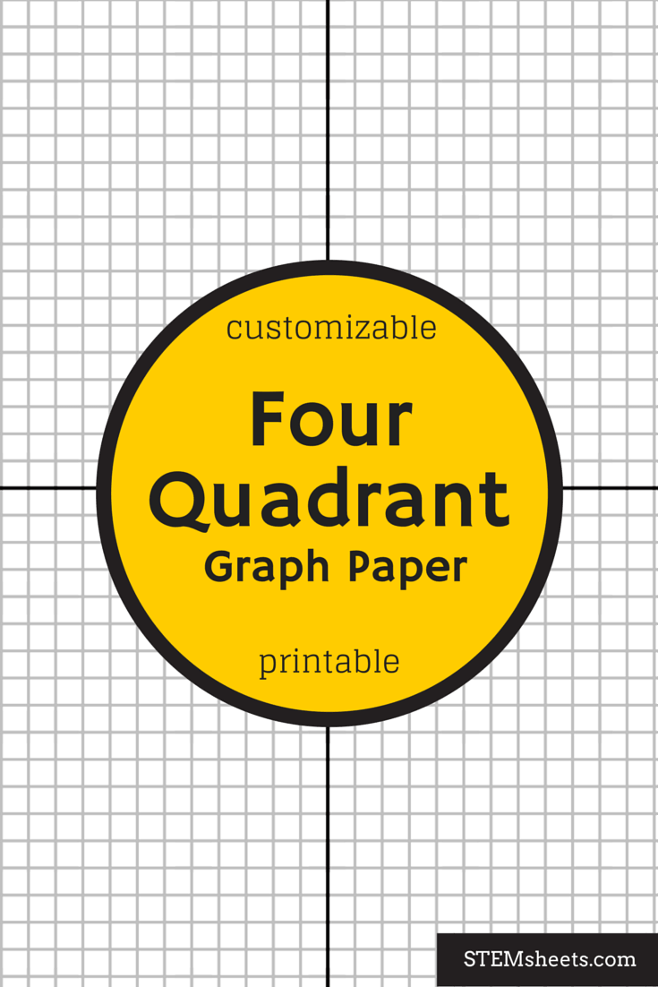 four quadrant graph paper that you can customize and print. | math