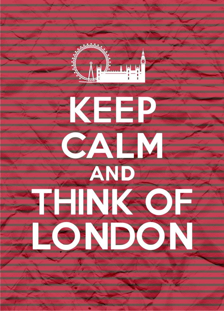 Keep Calm and Think of London – Stripes – 8×11 – Instant Download, Digital Printable Poster, Print, Typography, Art, JPEG Image