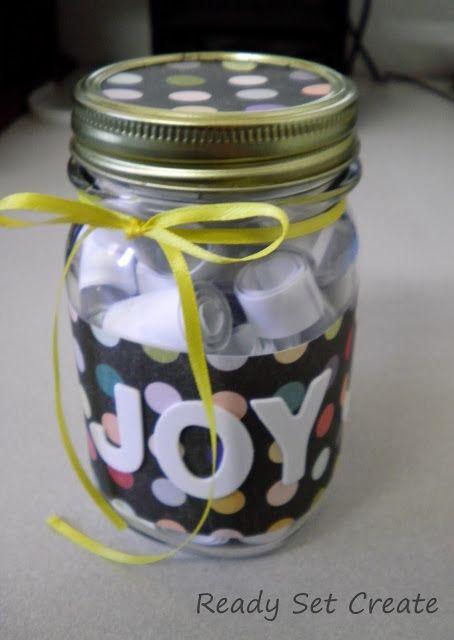 how neat, a joy jar!
