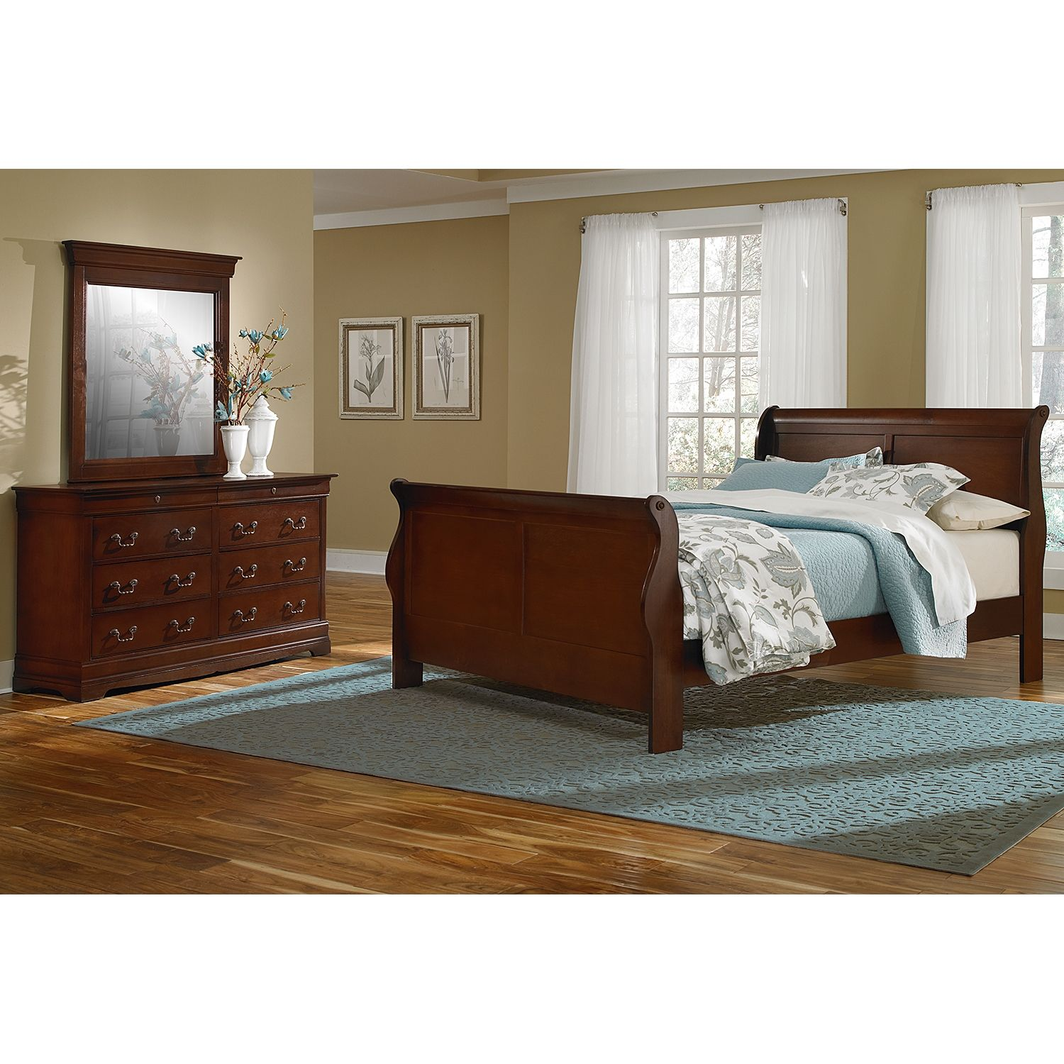 neo classic cherry ii 5 pc twin bedroom value city furniture