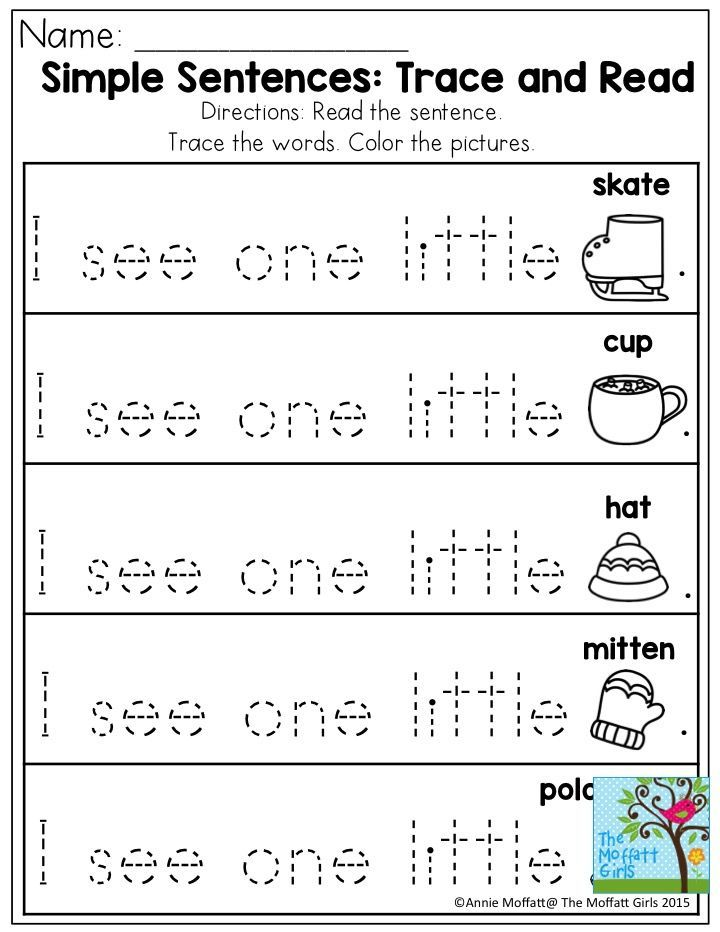 simple sentences trace and read great practice for primer sight words fluency is a skill that. Black Bedroom Furniture Sets. Home Design Ideas