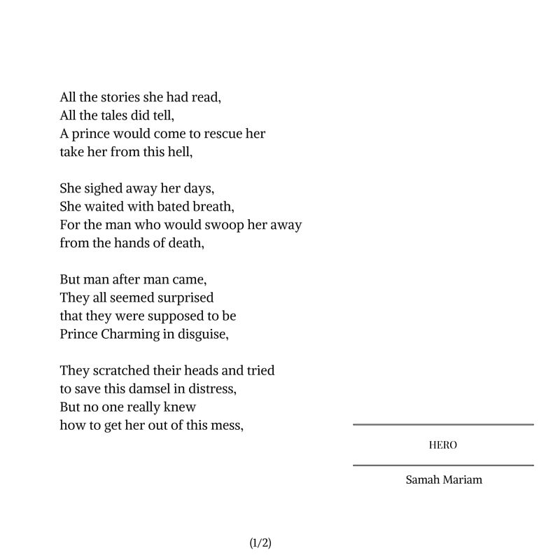 Hero 1 From Samahrium Tumblr Com With Images Poems Heroes