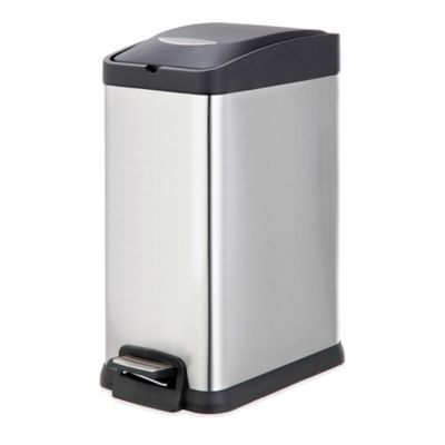Salt Stainless Steel Rectangular 15 Liter Pedal Trash Bin In 2020 Trash Bins Kitchen Trash Cans Rectangular
