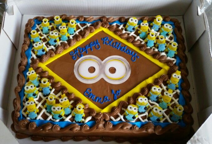 Turned a costco cake into my very own minion cake Sweet Tooth