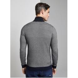 Photo of Strukturierte Strickjacke für Herren von Tom Tailor, grau, mehrfarbig, Größe S Tom TailorTom Tailor