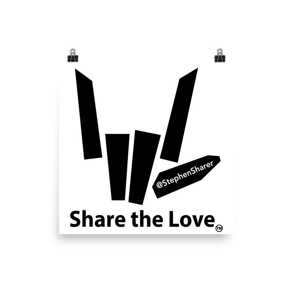 Download Share the Love Signature Poster   Share the love, Love ...