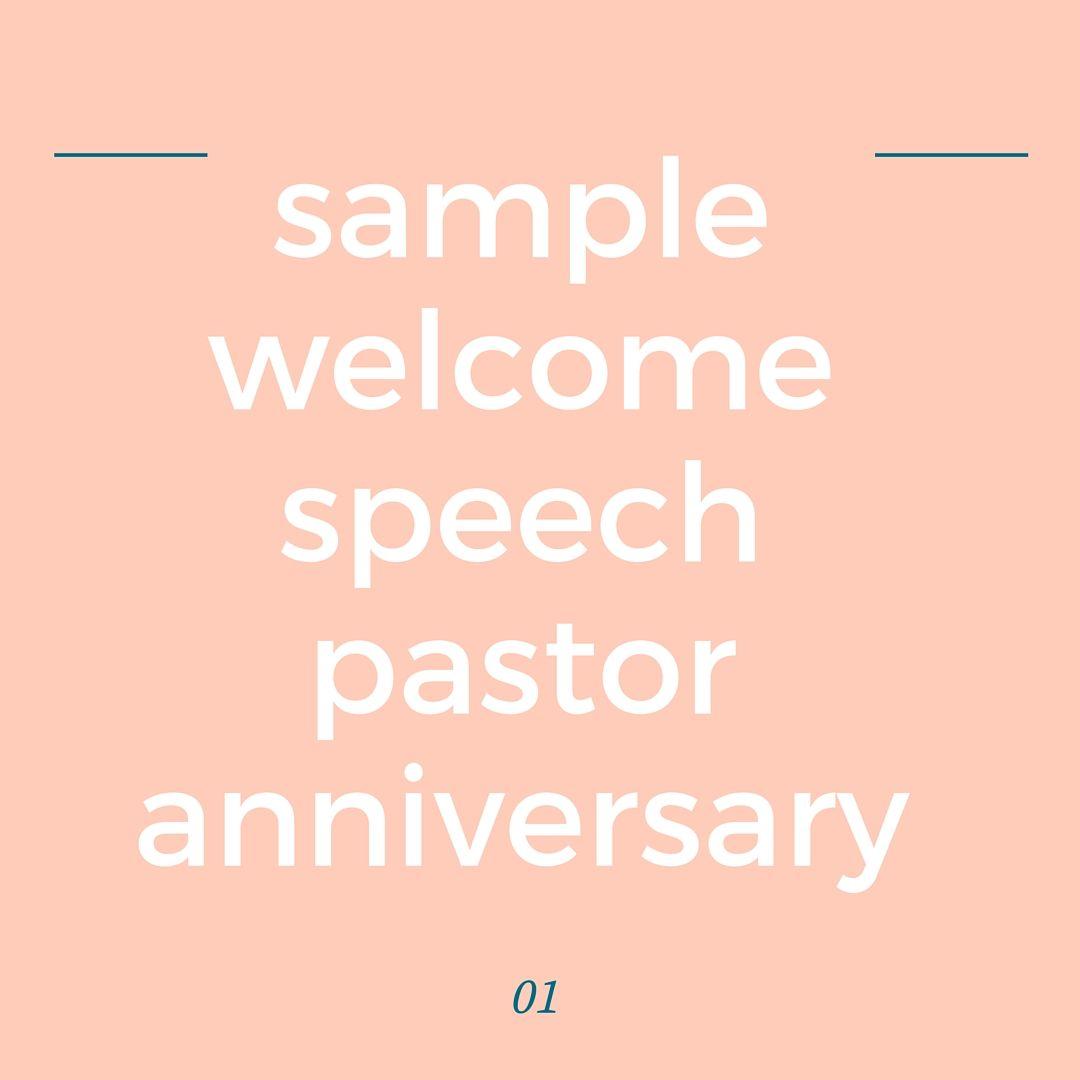 Church Welcome Speech Sample Pastor Anniversary