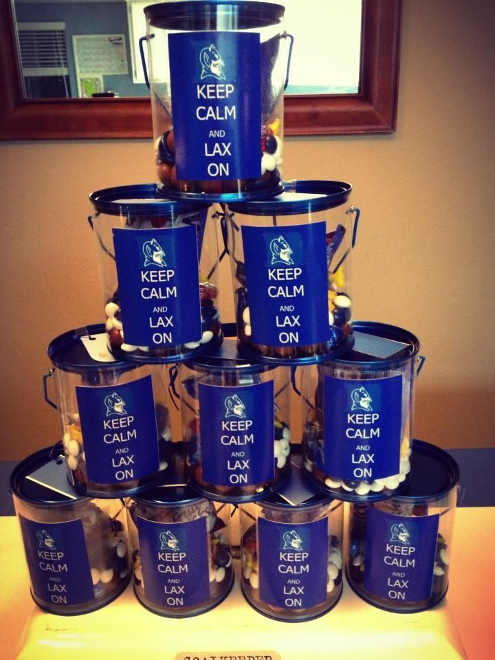 Duke party favor- 'keep calm and lax on'