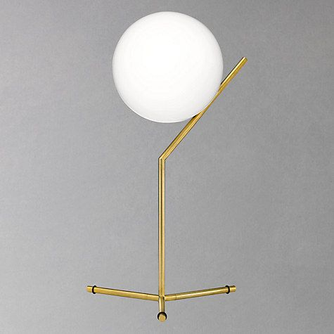 flos ic t1 high table lamp 20cm brushed brass john lewis and lights