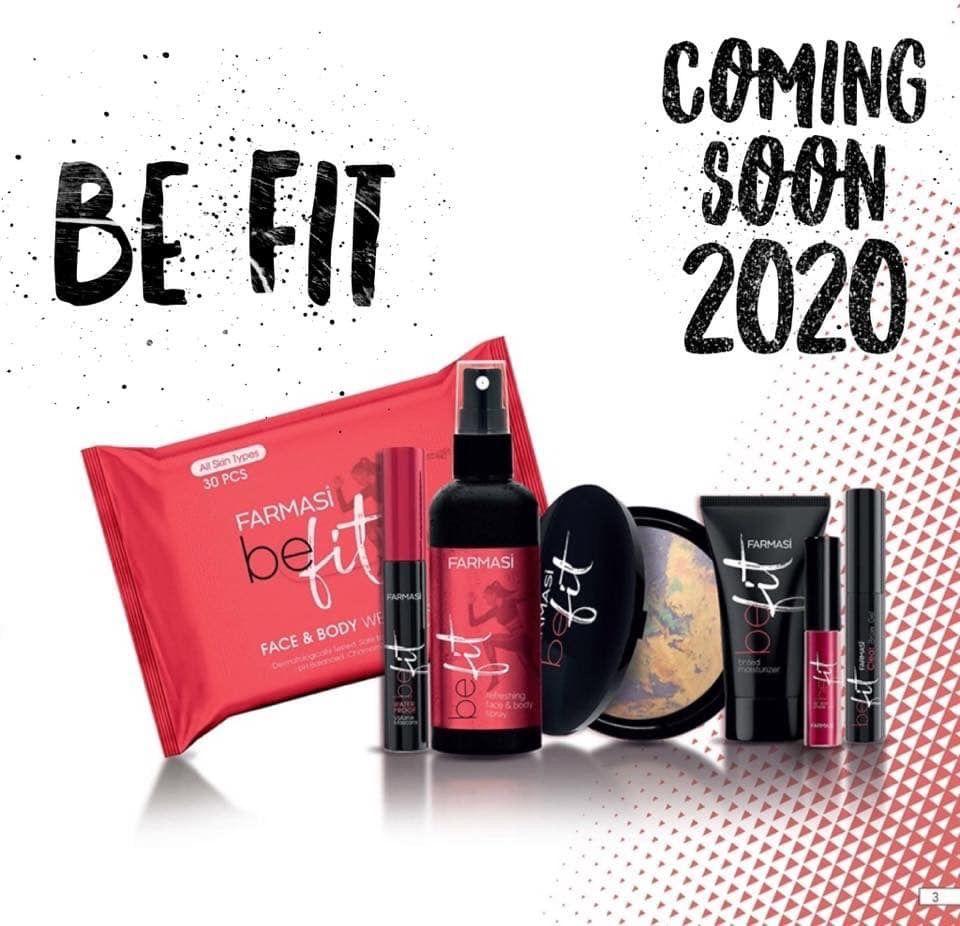 Farmasi Be Fit coming 2020 natural skincare and cosmetics