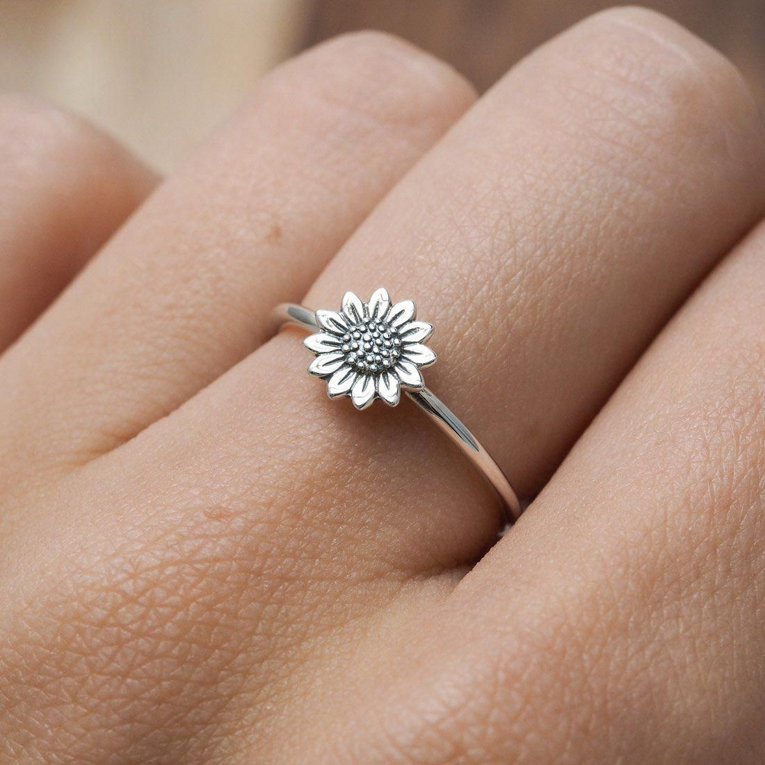 Diamond Cluster Ring Twig Engagement Ring Floral Unique