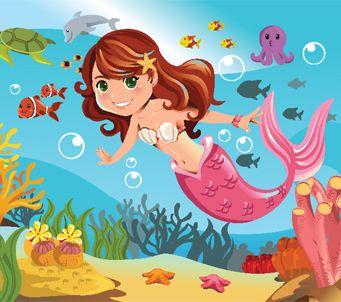 mermaid in ocean - Mermaid Pictures For Kids