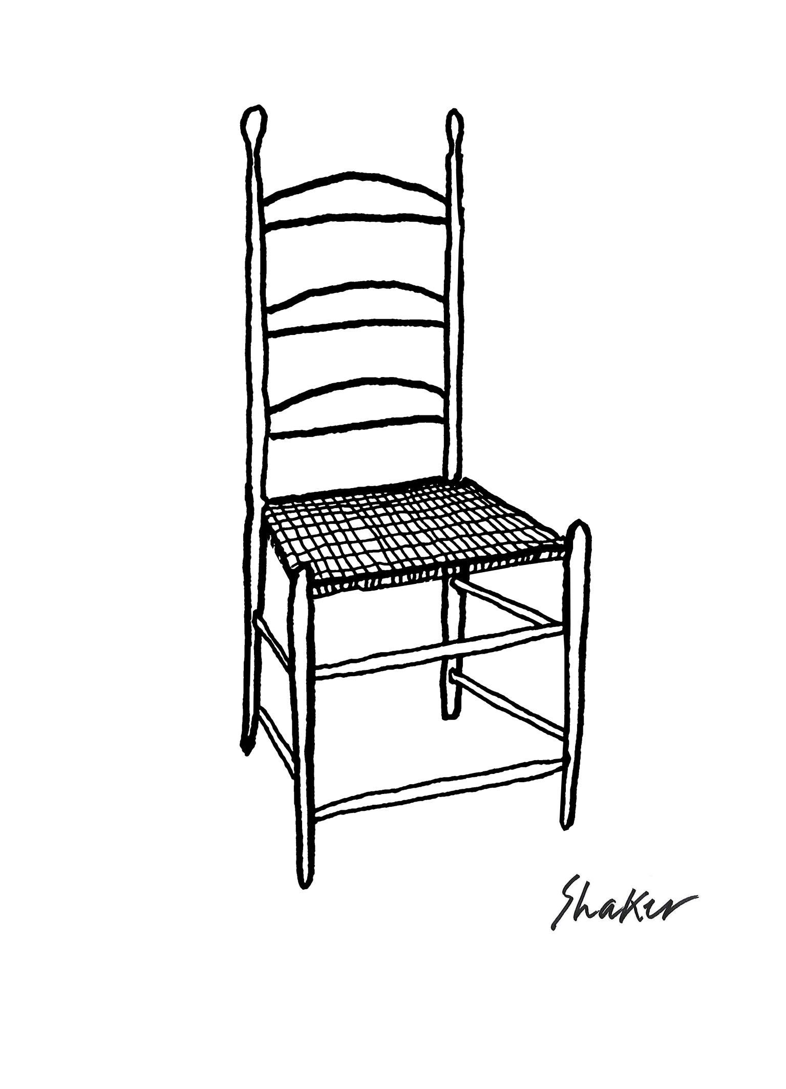 Sketch Of Shaker Chair By Conran