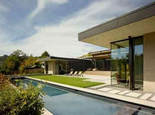 amnagement dalle de jardin et entre de maison moderne avec terrasse - Amenagement D Une Allee Maison