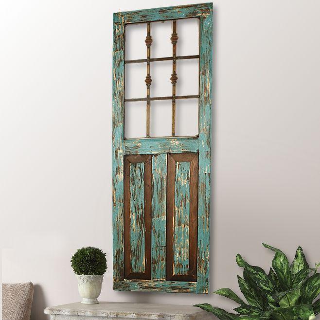 BellaSoleil.com - Old Door Wall Grille Turquoise, $159.97 (http://www.bellasoleil.com/old-door-wall-grille-turquoise/)