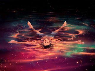 #nadar #colores #agua #universo #calm #sky #stars
