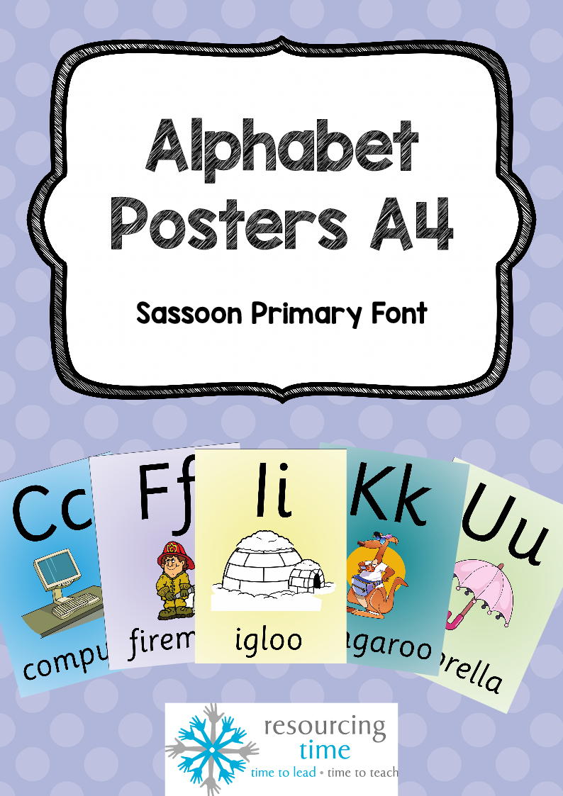 Alphabet Posters A4 Sassoon Primary Font The Alphabet Tree Alphabet Poster Alphabet Fonts [ 1123 x 794 Pixel ]
