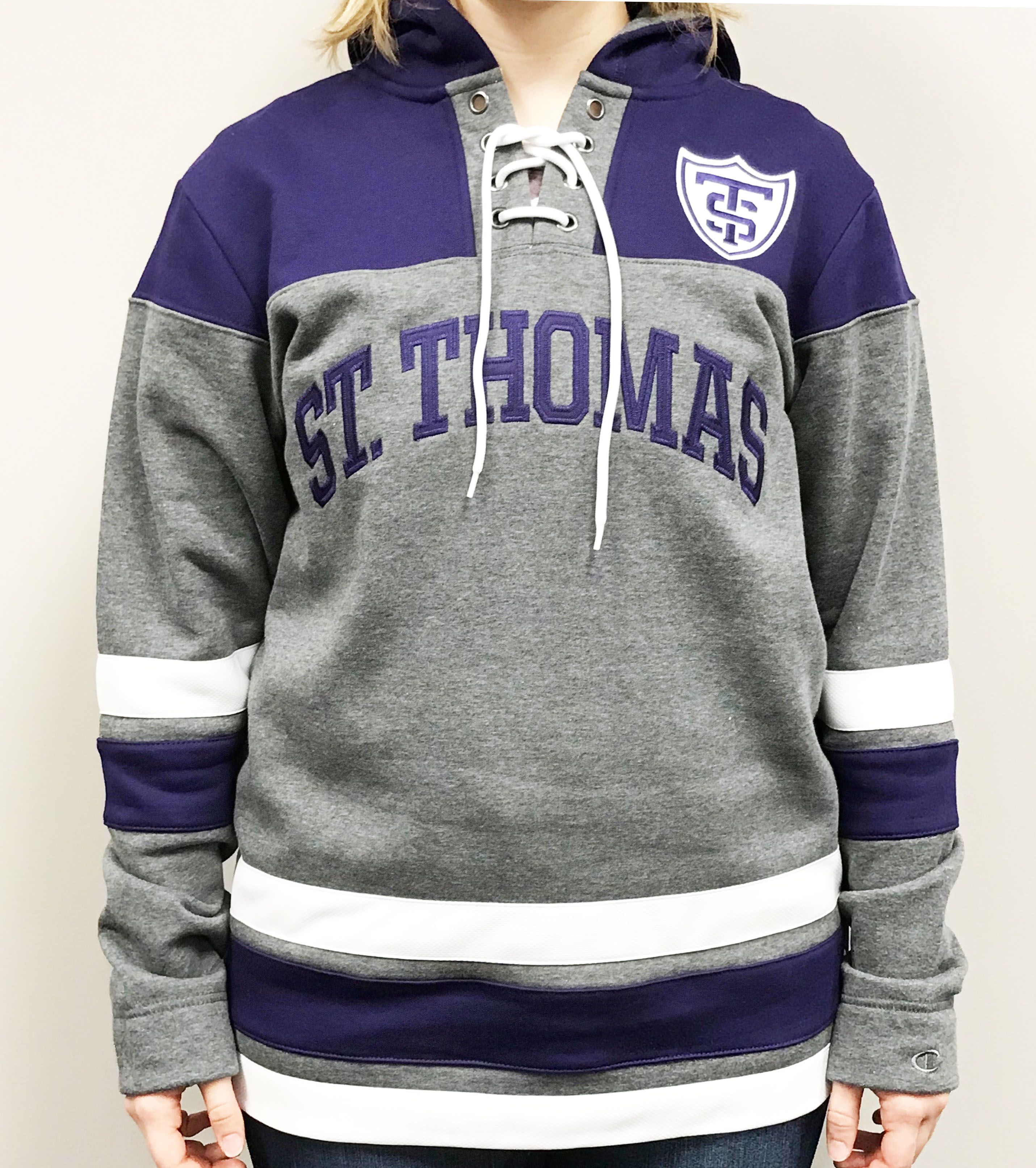 Perfect addition for any Tommie fan s wardrobe. This hockey hood has a lace  up chest cfab59921
