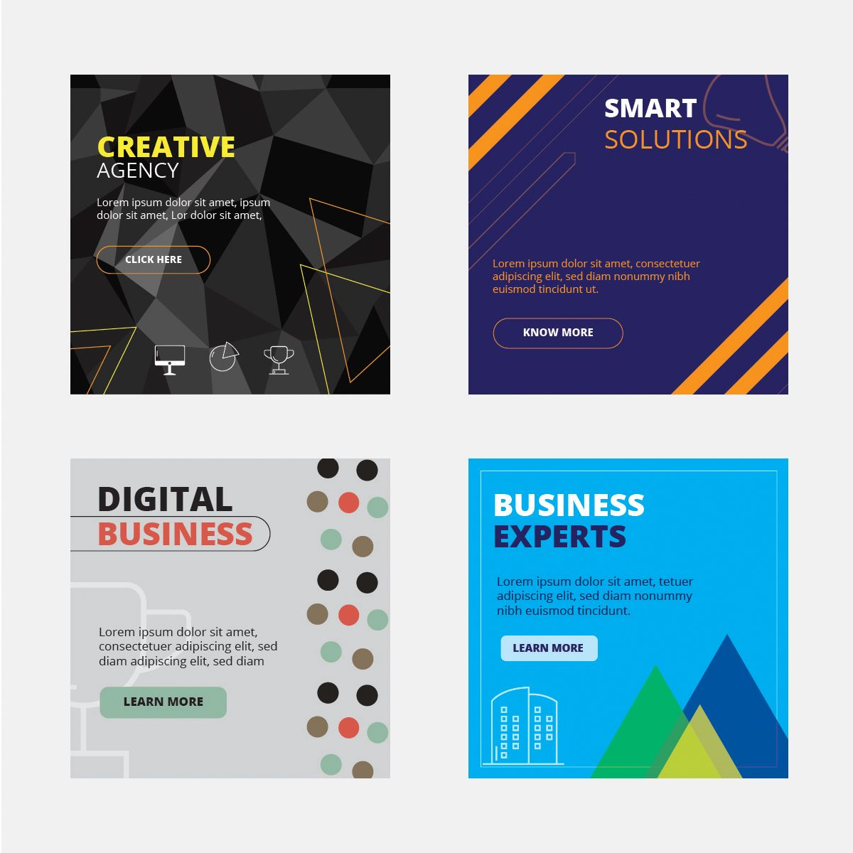 Corporate Banner Designs (Pack of 4
