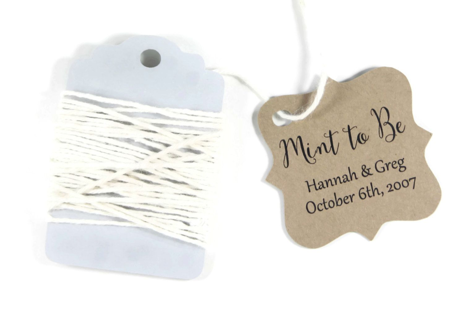 Kraft Brown Wedding Gift Tags set of 20 - Personalized Wedding Favor ...