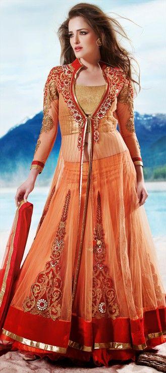 116383 Orange Color Family Long Lehenga Choli Indian Outfits Lehenga Collection Lehenga Choli