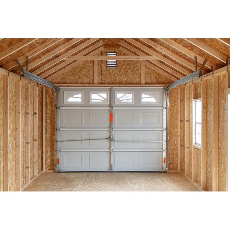 Ideal Door Commercial White Garage Door At Menards